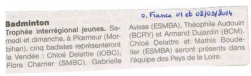 O France 01 et 02 03 14